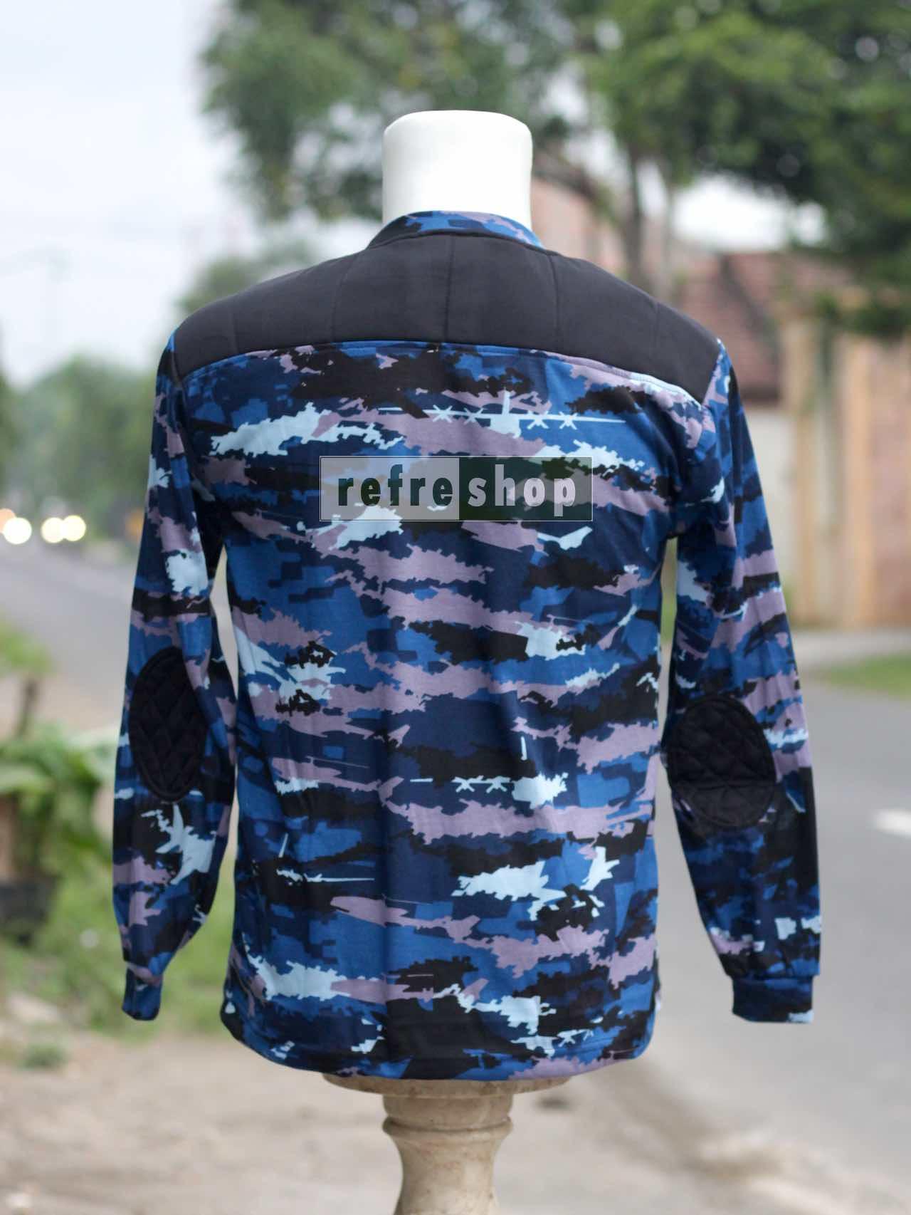 Kaos Loreng Tactical Army Lengan Panjang KLBSP0403DD Biru Strimin Nyaman Adem Bahan Berkualitas