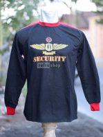 Kaos Security Atau Satpam Lengan Panjang Hitam Lembut Dan Nyaman Dipakai KSPH02DD