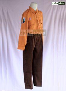 Baju Sekolah Seragam Pramuka Coklat Pria Nyaman Tahan Lama Berkualitas SCP1