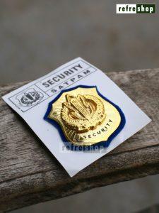 Lencana Tanda Kewenangan Security Kecil Logo Satpam Cor KWNSC1002JM