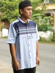 Busana Muslim Pria Baju Koko Baju Pria Baju Taqwa Baju Lengan Pendek Nyaman Berkualitas MFP30302YH Refreshop