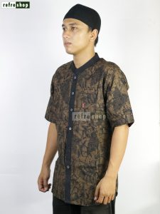 Baju Taqwa Baju Pria Baju Koko Busana Muslim Baju Lengan Pendek Nyaman Berkualitas MFP20302YH