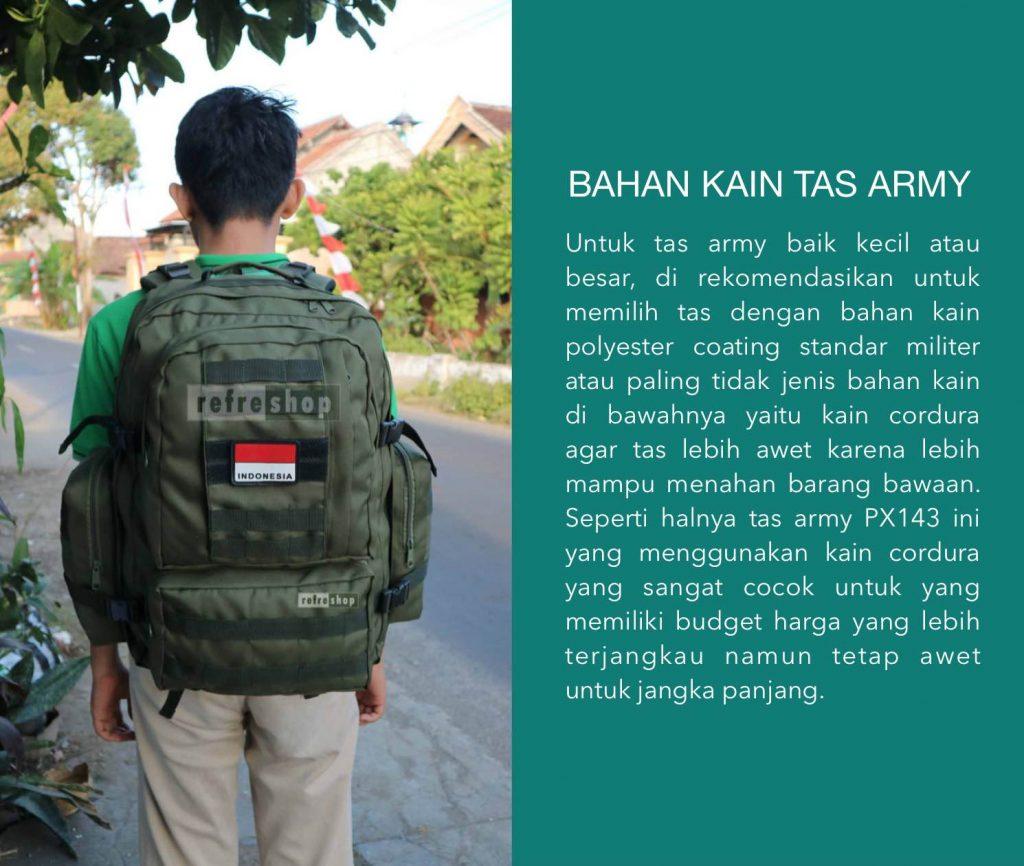Bahan Kain Tas Army Ransel Tactical Yang Awet Dan Tahan Lama Refreshop