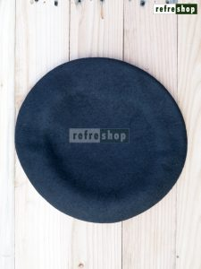 Baret Hitam BRH1 Bahan Wool Lembut Nyaman Murah Berkualitas