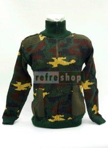 Jaket Sweater Rajut Lembut Hangat Nyaman Loreng Militer JSL3