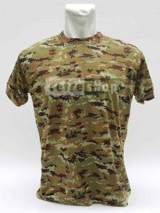 Kaos Loreng Army Sylish Lembut Dan Nyaman Loreng Strimin Coklat Tactical Army KLCS1