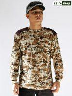 Kaos Lengan Panjang Loreng Cokelat Militer Army Tactical KLSCP0203DD Nyaman Lembut Awet Tahan Lama