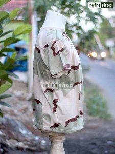 Kaos Tentara Tactical Lembut Nyaman Lengan Pendek Army Militer Krem Stylish KLK02DD