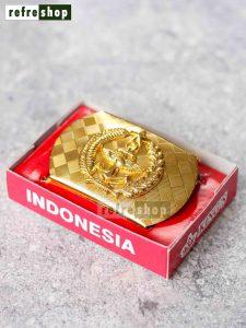 Kepala Gesper PDH TNI Kokoh Dan Awet Motif Artistik Mengkilap IPTN7503HM