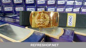 Sabuk PDH TNI Kokoh Awet Model Gesper Grendel Roll Artistik Dan Mewah IPKTN55011LI