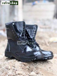 Sepatu PDL Nyaman Kulit Halus Apel Hitam Dislap TNI Polri SPDL0304CB