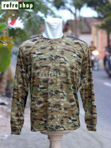 Kaos TNI Loreng Army Militer Lengan Panjang KLSCP0204DD Nyaman Lembut Awet Tahan Lama Berkualitas