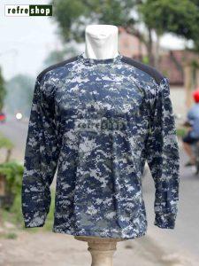 Kaos Tactical Army Biru Strimin Lengan Panjang KLBSP0902DD Lembut Nyaman Adem