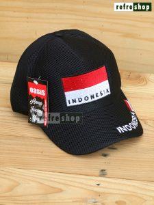 Topi Jaring Nyaman Ringan Berkualitas Bendera Indonesia TPJINA02NR