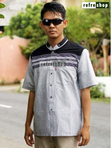 Baju Muslim Pria Adem Nyaman Lengan Pendek Berkualitas MFP0302YH Kemeja Koko Taqwa